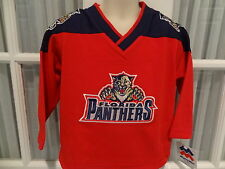 NWT NHL Florida Panthers Toddler Fan Aqqpliqed Team Jersey - Sizes 2T - 4T