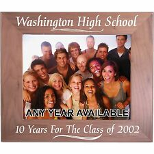 Personalized Walnut Picture Frames Class Reunion Gifts Custom Party Favors