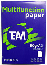 A3 Plain White Printing Copier Paper Multi Purpose Office Paper 80gsm New Paper
