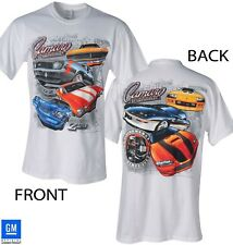 67 68 69 70 71 72 73 78 79 80 81 89 92 93 01 02 CAMARO MULTI GENERATION T-SHIRT