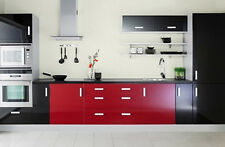BUY 2 GET 1 FREE! Gloss Kitchen Units Cupboard Doors Draws Self Adhesive Vinyl