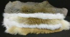 Rabbit fur hides Pelts  White, Natural, Dark Brown You Choose color and quantity