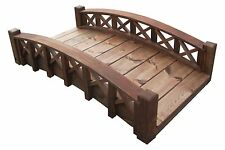 "4' Garden Bridges with Cross Halved Lattice Rails, 4'Lx11-1/2""Tx26-1/2""W,New"