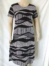 Travel Knit Dress, Long A-Line Short slv, NEW, stretchy wash&wear poly/span #715