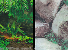 """Aquarium Fish Tank Background by the foot  ~ 12"""" Height Two-Sided ~ style 043"""