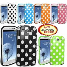 POLKA DOT GEL CASE SILICONE CASE BACK COVER FOR SAMSUNG GALAXY S3 I9300 SIII
