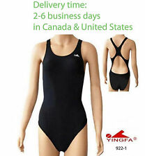 Yingfa one piece women swimwear bathing suit swimming racing swimsuit Black