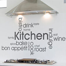 MODERN KITCHEN WALL QUOTES - VINYL ART STICKERS DECALS