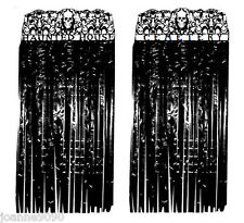 HALLOWEEN CREEPY DOOR CURTAIN COVER DECORATION PLASTIC LONG STRANDS 90cm x 170cm