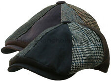STETSON WOOL TWEED PATCHWORK IVY Men GATSBY Cap Newsboy Hat Golf Driving Flat