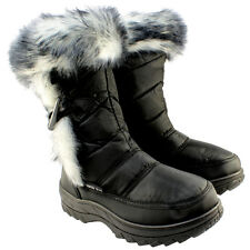 WOMENS WINTER SNOW SKI TOGGLE FUR LINED WATERPROOF JOGGERS MOON BOOTS SIZE 3-8