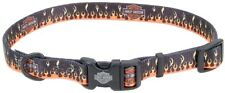 Harley Davidson NEW STYLE Logo with Flames Dog Collar or Leash