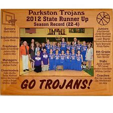 Personalized 4x6 5x7 8x10 State Boys Girls Basketball Wood Picture Frames Custom