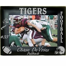 Personalized Metal Football Photo Frames 4x6 5x7 8x10 Team Youth Custom Picture