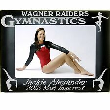 Personalized Metal Gymnastics Photo Frames 4x6 5x7 8x10 Laser Engraved Picture