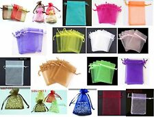 100pcs Plain Organza  Pouch Wedding Jewellery Gift Bag 7cmx9cm wholesale