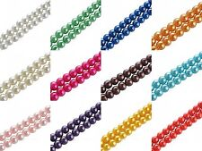 4/6/8/10mm smooth ball glass pearl findings spacer bead for diy bracelet/jewelry