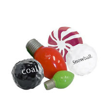 Planet Dog Holiday Dog Toys: Green Bulb, Red Bulb, Snowball, Coal or Mint