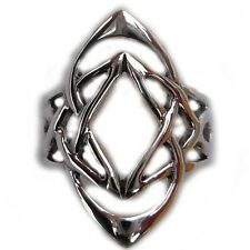 Silver Celtic Weaved Knot Ring Wedding Band R290