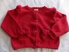 NWT Girl's Gymboree Christmas Gingerbread Girl red sweater ~ 6 12 18 months