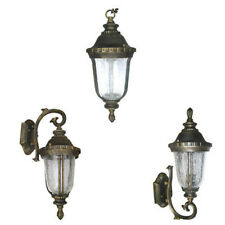 Aluminum Outdoor Exterior Lantern Wall Lighting Fixture Black Gold Sconce