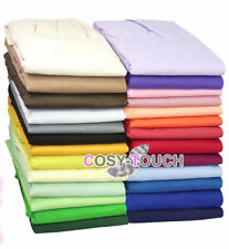 Fitted Valance Sheet Plain Dyed Bed Sheets Single - Double - King Made In UK