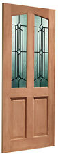 External Door Hardwood M&T Double Glazed Richmond with Donne Glass