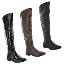 New Ladies Riding Winter Equestrian Knee High Long Boots Sizes UK 3 4 5 6 7 8