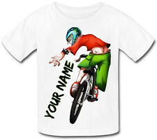 BMX BIKE PERSONALISED KIDS T-SHIRT - GREAT GIFT FOR ANY CHILD & NAMED TOO
