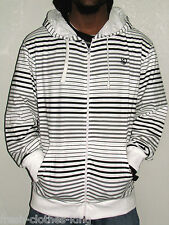 SOUTHPOLE Hoodie Mens New $55 White Classic Stripe Full-Zip Choose Size