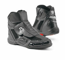 Vega Merge Motorcycle Leather Street Boots sliders included