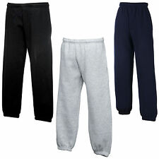 New Fruit of the Loom Childrens Kids Jog Pants Bottoms in 4 Colours Ages 5-15