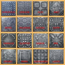 Lot of 30pc Antique Ceiling Tile - 20x20  Different 16 Design Silver/Graphite