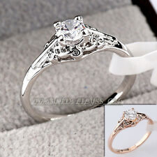 A1-R3091 Fashion 0.46ct Solitaire Engagement Ring 18KGP use Swarovski Crystal