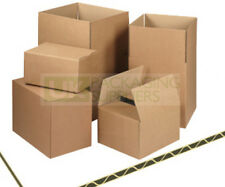 "Postal Packing Cardboard Boxes Size 8x6x4"" Packaging Cartons CHOOSE YOUR QTY"