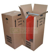 Tall Wardrobe Removal Packing Boxes With Hanger Rail Storage CHOOSE YOUR QTY
