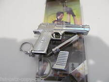 COLLECTORS METAL REPLICA SILVER SILENCER GUN PISTOL DESERT EAGLE USA WEAPON
