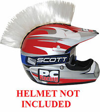 Helmet White Mohawks PC Racing All Colors Interchangable Mohawk