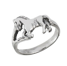 Adorable Sterling Silver HORSE Ring Size 3-8