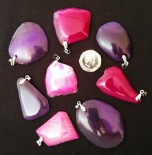 AGATE GEMSTONE PENDANT CRYSTAL NEW AGE REIKI HEALING PAGAN WICCA