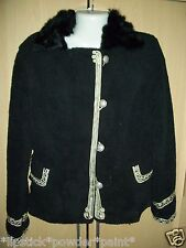 STYLISH MILITARY VINTAGE STYLE FLEECE JACKET WITH FAUX FUR COLLAR ** NOW £10.99