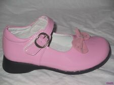 GIRLS WHITE OR PINK  DRESS SHOES BOW SIZE 7 & 8 NEW DIAMONTE