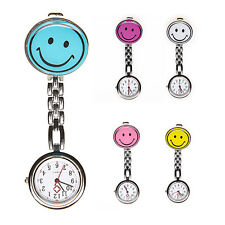 Nurse's Stainless Steel Smile Smiley Face Quartz Fob Pocket Watch