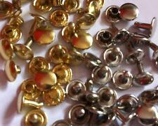 100 Double Cap Rivets 9 X 8mm LEATHER CRAFT REPAIRS DECORATION HARDWARE