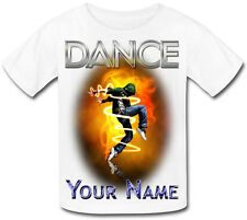 BOY'S DANCE DANCING PERSONALISED KIDS T-SHIRT -GREAT GIFT FOR ANY CHILD & NAMED