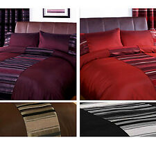 Striped Duvet Quilt Cover – Contemporary Chenille Bedding Bed Set