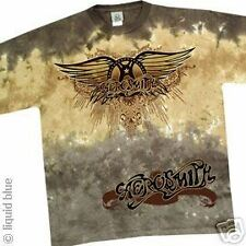 New AEROSMITH Ray Logo Tie Dye T Shirt