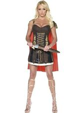 SALE! Adult Sexy Roman Warrior Gladiator Ladies Fancy Dress Costume Party Outfit