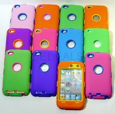 Colorful Impact Hybrid Case Cover For ipod touch 4 4G 4th Gen w/ BUILT IN SCREEN