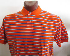 NWT Ralph Lauren Mesh / Pique Polo Shirt Red Striped Size XL and XXL